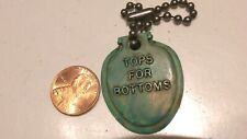 VINTAGE SOLID OLSONITE SEATS TOPS FOR BOTTOMS TOILET EAT KEY CHAIN ADVERTISING
