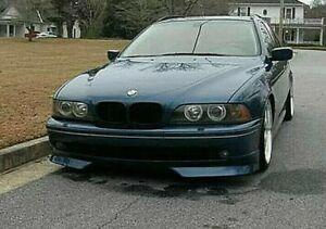 96-04 BMW E39 5 Series M2 Style Front Bumper Lip Splitter Spoiler   PU Plastic