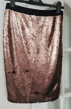 New Ted Baker Women's Ladies Warsop Sequin Embellished Pencil Skirt Size 2 UK 10