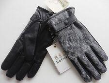 MENS BARBOUR gloves BLACK  LEATHER WOOL Large  BRAND NEW TAGS RRP £59 WATERPROOF