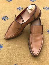 Oliver Sweeney Mens Shoes Tan Brown Leather Loafers UK 8 US 9 EU 42 Ravioli