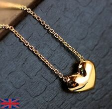 Women's Gold Heart Shaped Necklace - UK Seller Free P&P