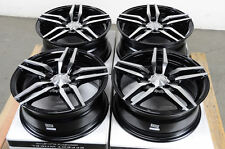 "15"" Black Wheels Rims 4 Lugs Integra Cobalt Neon Accord Civic Fit Accent Rotem"