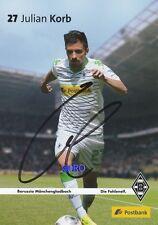Julian KORB + Borussia Mönchengladbach + Saison 2013/2014 + Autogrammkarte