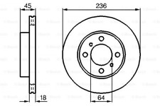 2x Bremsscheibe für Bremsanlage Vorderachse BOSCH 0 986 478 572