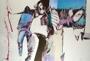 "Veloy Vigil ""Ella"" Hand Signed Art Lithograph, framed, small edition Make Offer!"