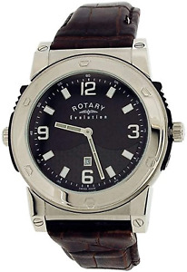 Rotary Evolution Gents Reversible Dial Brown Leather Strap Watch EGS0007/TZ21906