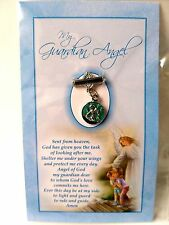 Guardian Angel Brooch and Blessing Card for a Boy