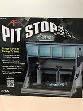 AFX PIT STOP HOLOGRAPHIC THEATER SLOT CAR TRACK ACCESSORY TOMY AURORA