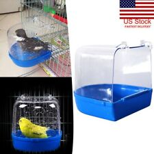 Pet Small Bird Bathing Tub  Bathtub Shower Box Cage Hanging Washing Box Parakeet