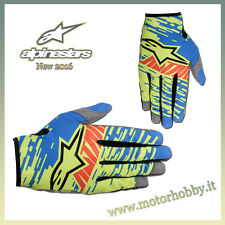 GUANTO CROSS ENDURO ALPINESTARS RACER BRAAP GLOVE BLUE LIME GREEN RED TAGLIA M