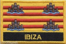 Spain Balearic Islands Ibiza Flag Embroidered Patch Badge - Sew or Iron on