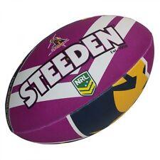 "Melbourne Storm NRL Logo 11"" Kids Small Football Foot Ball STEEDEN 2018 Gift"