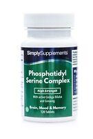 Phosphatidyl Serine Complex * 120 Tablets * Improved Formula * 60+ Day Supply