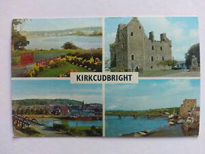 Kirkcudbright colour Postcard 1970 Multi view