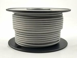 25' Roll 12AWG GREY Stranded Appliance Grade 600 Volt Hook-Up Wire, UL1015 105C