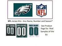 NFL Philadelphia Eagles Jersey Kit Custom Lettering ANY YEAR Name Number UNSEWN