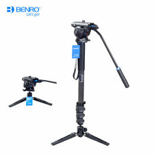Benro A38FS4N / C38FS4N Monopod With S4N Fluid Head For Video DSLR Camera