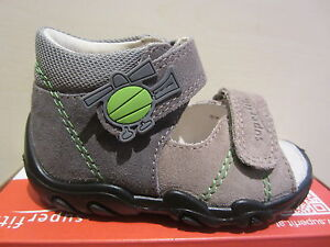 Superfit Ll - Sandals Grey/ Beige/ Green Leather Kv Leather Footbed New