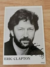 More details for eric clapton signed promo photo