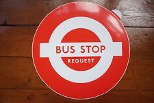 1970s Bus Stop Lolly Sticker Transfer London Transport - Red