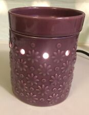 SCENTSY Cosmos Warmer RETIRED Mid-size Purple Flowers With Bulb