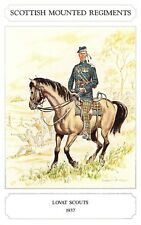 Postcard The Scottish Mounted Regiment Series, Lovat Scouts (1937) Geoff White