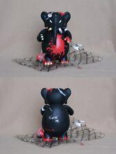 "Frank Kozik SIGNED Toy2R 8"" 2008 SDCC Black Redrum Dr. Bomb AUTOGRAPHED"