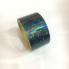 Black Holographic Mini Circle Vinyl Tape 1 inch x 25 feet