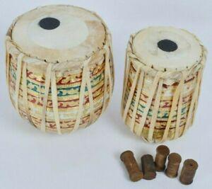 Décoratif Musical Modèle Meenakari Travail Mini Bébé Tabla Lot Pour Home Bureau