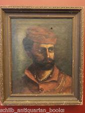 1870 Old Master Oil on Canvas Painting Italian Lorenzo Rizzi Portrait Verona