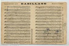 Babillage Canzone Musique E. Gillet Versi Spartito PC Viaggiata 1907 France