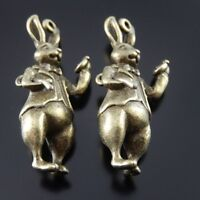 ** 5X Retro Style Tibetan Bronze Tone Rabbit Gentleman Charms Pendant 36*13*8mm