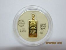 Rare Hong Kong Hang Seng Bank 1/5 tael  Gold Bar issued by Royal Mint sealed.