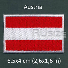 AUSTRIA Country Flag Embroidered PATCH 6,5х4cm For sewn/ironed on Badge Chevron