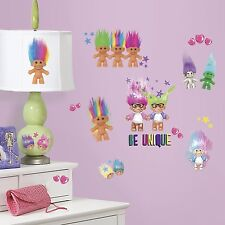 """GOOD LUCK TROLLS 30 PEEL AND STICK WALL DECALS"" ROOMMATES RMK 3062SCS NEW"