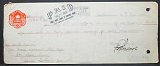 US Check First National Trust & Savings Bank Paid Six Pence Stamp 1927 (H-6782+