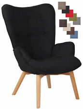 Lounger Durham Stoff Ohrensessel Konferenzstuhl Sessel Buchenholzgestell
