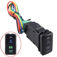 Blue/Green LED Light Push Switch Button For Toyota Prado Hilux Land Cruiser RAV4
