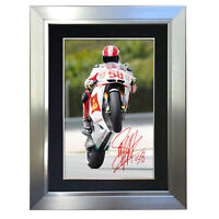 #8 MARCO SIMONCELLI A5 Signed Reproduction Autograph Mounted Print