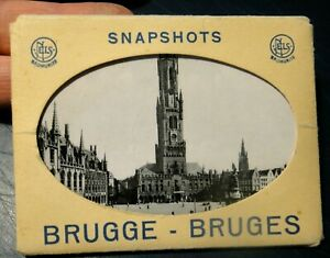 SNAPSHOTS BRUGGE BRUGES - BELGIO - SET FOTOGRAFIE 1960ca