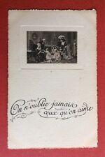 CPA ou CPSM. Vignette Style Louis XVI. On n'oublie jamais ceux qu'on aime.