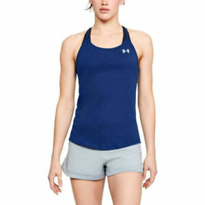 Under Armour UA Threadborne Swyft Strappy Singlet Ladies Blue Running Vest