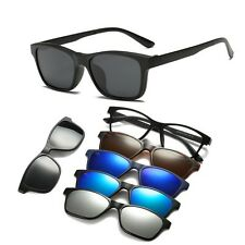 Men eyeglasses frames glasses connection 1pcs polarized sunglasses 4pcs uv lens