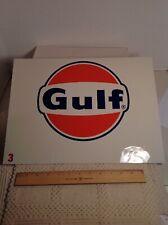 Original Gulf Pump Plate Test Print Sign Metal