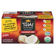 Coconut Milk (Unsweetened), Thai Kitchen; New 6 Pack of 13.66oz cans