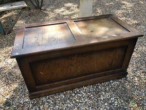 "Oak John Barker Kenbar Blanket Box Storage Chest 36 X 18 X 18"" Vintage/antique"