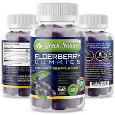 Elderberry Gummies  Double Strength Immune Support Gummy Vitamins C,and Zinc