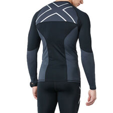 Mens Compression Slim Fit Tops Long Sleeve Workout Gym Tights Quick Dry T Shirt
