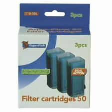 3 Pack Aqua Flow 50 Firsh Tank  Aquariam Filter Replacement Cartridge